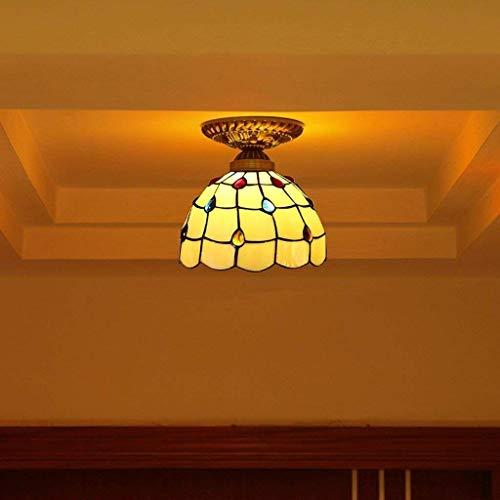 In Gyy Home Hotel Beleuchtung exquisite Kronleuchter Vintage einfache Deckenleuchte aus farbigem Glas kreative Deckenleuchte Balkon Flur E27