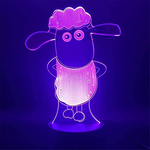 Raya and The Last Dragon - Lámpara 3D con ilusión óptica para niños, lámpara de noche para niñas, niños, niños, edad de Shaun The Sheep