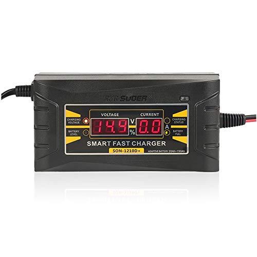 Cargador Baterias Coche Automático Inteligente completa del coche cargador de batería de 12 V 10A Smart Display cargador rápido de batería Cargador De BateríA De Coche (Color : 1)
