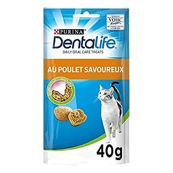 Dentalife Friandises Bucco-Dentaire Adulte au Poulet pour Chat, 40 g - Lot de 8