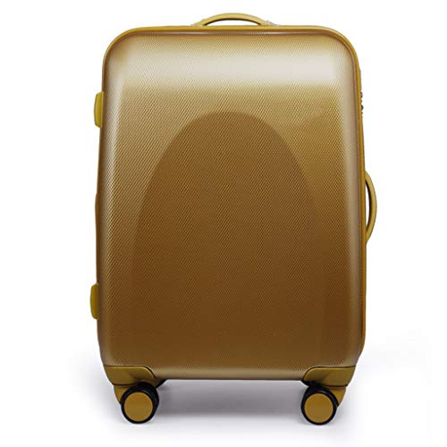 LLRDIAN Hand Carry-on Suitcase Luggage Bag Luggage Suitcase Hand Luggage Hard Shell Luggage Lightweight Hand Luggage Suitcase (Color : Gold, Size : 54×28×77cm)