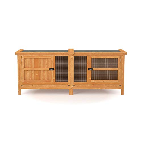 5ft Chartwell Single Tier Outdoor Rabbit Hutch | XL Wooden Pet House For Small Pet Rabbits or Guinea Pigs | The Tallest and Deepest 5ft Single Pet Cage on Amazon