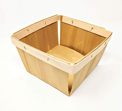 Wood Berry Basket - Quart Wooden Boxes - 10 pack!