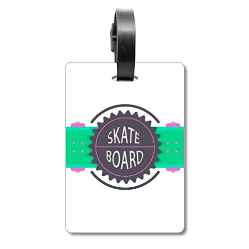 Sport-Skateboard mit Mottos Cartoon Watercolor Cruise Koffer Bag Tag Tourister Identification Label
