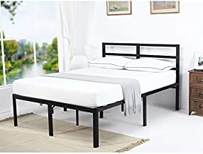 V&LX 18 Inch Tall V1407 UP-Support Head Support Bar Deluxe Metal Slat Bed Frame (King)