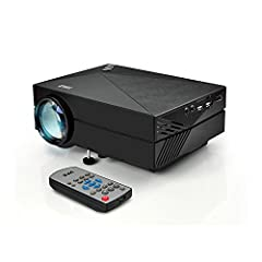 FULL HD CINEMA HOME THEATER PROJECTOR: Pyle's PRJG82 is a home projector with high definition resolution of 1920x1080p. Ideal TV or movie projector for that cinema theatre experience. It's also compatible to PC computer and laptops with Mac/iOS or Wi...