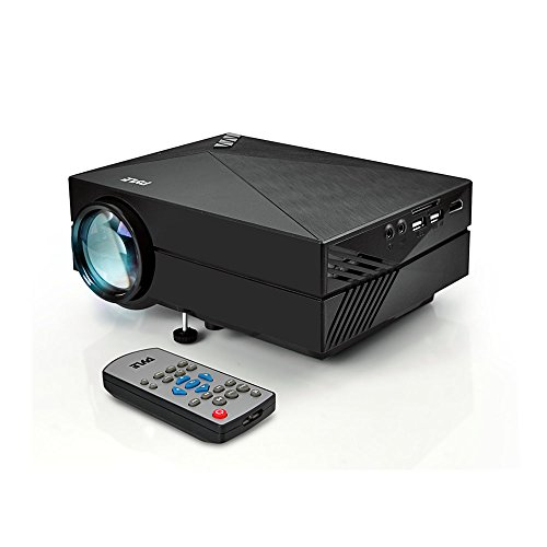Pyle Mini Video Projector 1080p Full HD Multimedia LED Cinema System for Home Theater, Office Conference Presentations w/ Keystone and HDMI Input for Laptop, PC Computer Digital Video, TV - (PRJG82)