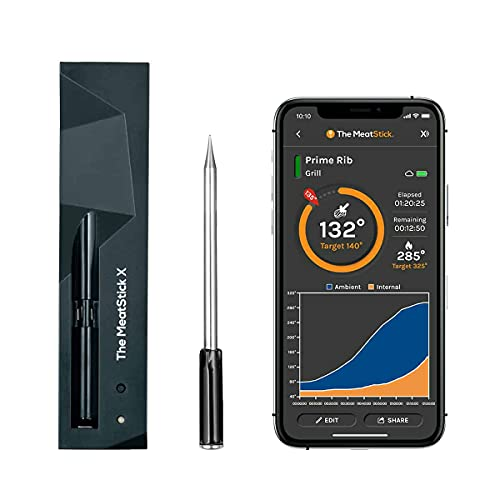 MeatStick X Set | 260ft Wireless Meat Thermometer...