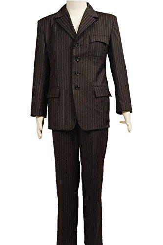 Who Will be Doctor Dr Brown Pinstripe Suit Blazer Hose Cosplay Kostüm Herren L