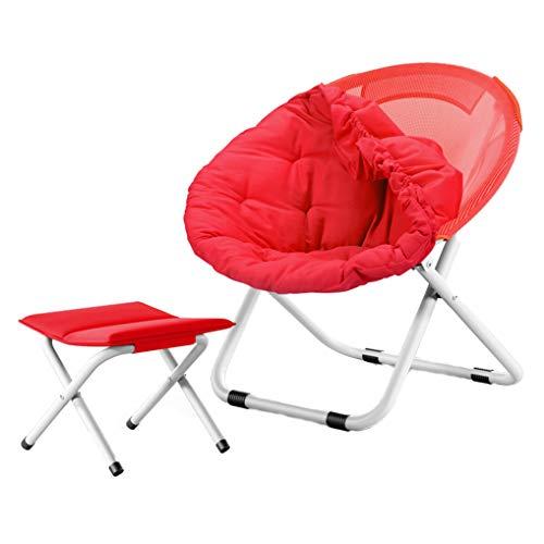 Maxibird Moon Chair Cute Round Size Ultralight Portable Compact Folding con Safe Lock para Camping Picnic Outdoor, múltiples Colores