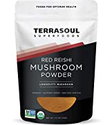 Terrasoul Superfoods Red Reishi Mushroom 4:1 Extract Powder, 5.5-ounce Pouch Certified Organic, Non-GMO, Raw, Gluten-Free, Vegan Reishi Mushroom 4:1 Extract Powder is concentrated to ensure maximum digestibility Reishi mushrooms are prized for their ...