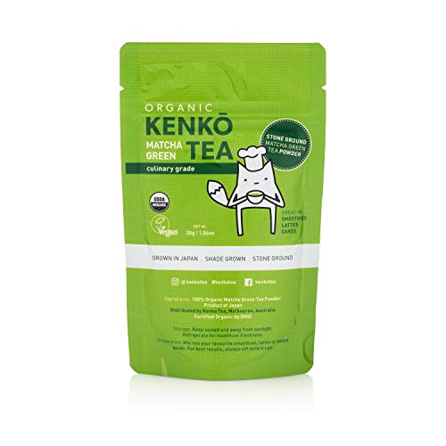 Matcha Green Tea Powder - USDA Organic Culinary Grade Matcha Powder 30g (1.06oz) for Green Tea Lattes, Smoothies and Baking. Suitable for Vegan, Paleo, Keto Diets. Gluten Free