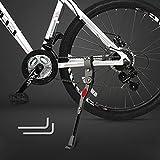Bike Kickstand Adjustable Aluminium Alloy Kick Stand Adult Bicycle Kickstand Universal Bike Side Rear Kickstand for 24-29 Inches Mountain Bike,Road Bike