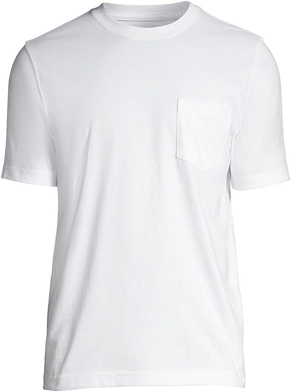 Lands' End Men's Super-T Short Sleeve T-Shirt with Pocket