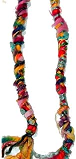 ONE Fuzzy, Raggedy Rainbow Colors Hippie Hair Wraps Hair Extensions for Dreads, Braids, Curls
