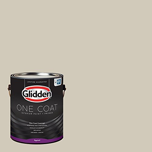 Glidden Interior Paint + Primer: Greige/Moth Gray, One Coat, Eggshell, 1-Gallon