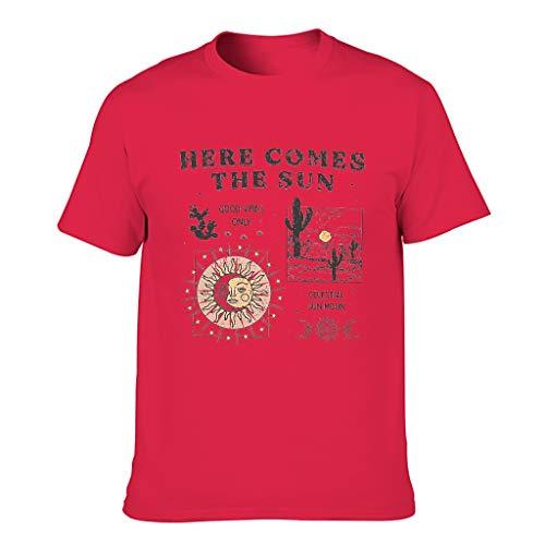 Camiseta de algodón para hombre, diseño de cactus Red1 XXXXXXL