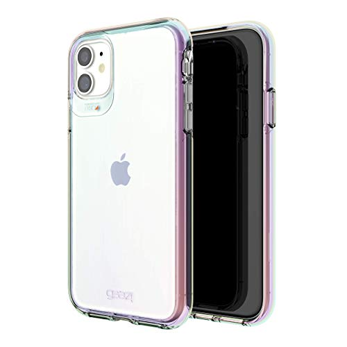 Gear4 Crystal Palace Iridescent Compatible With iPhone 11 Case, Advanced Impact Protection With Integrated D3O Technology, Anti-Yellowing, Phone Cover – Iridescent (36595)