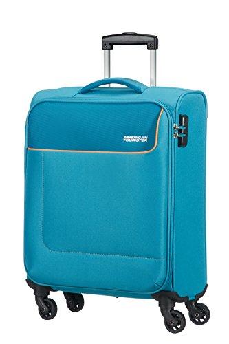 American Tourister- Funshine spinner 4 ruedas 55/20 equipaje de mano, turquesa (blue...