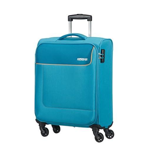 American Tourister - Funshine Spinner Bagaglio a mano, Unisex, Poliestere, Blu (Blue Ocean), 36 litri, 55 cm