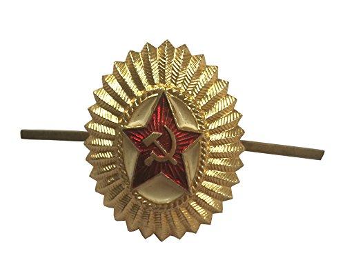 Epic Militaria Hut-Anstecker Sowjetische Rote Armee Offiziere Hammer und Sichel mit rotem Stern UDSSR