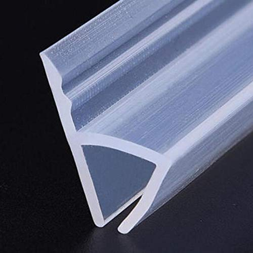 H-Form-Duschglastür-Silikonkautschuk-Streifen-Dichtungs-Abwischen, fegen for 6 / 8mm 1pcs duschdichtung (Length : 2M, Thickness : 8mm)