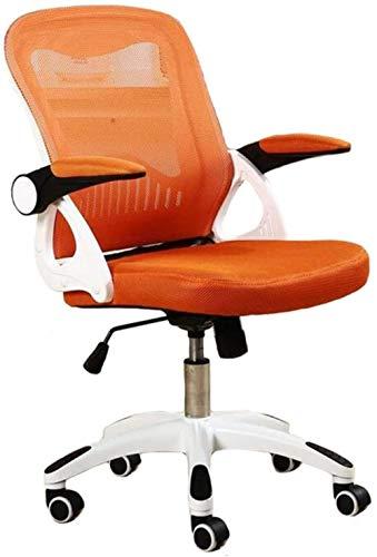 Office Chairs Leisure Chair Ergonomic Swivel Mesh Chair Adjustable Seat Height Lumbar Support Desk Chair-Orange