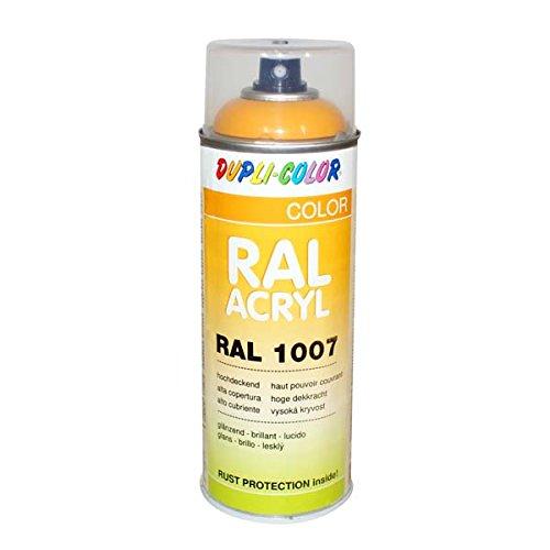 Dupli-Color 349485 RAL-Acryl-Spray 1007, 400 ml, Narzissengelb Glanz