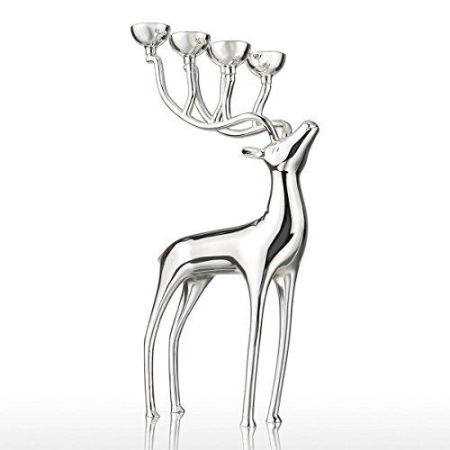 Tooarts Elch-förmig Kerzenständer Kerzenhalter Moderne Skulptur aus Legierung