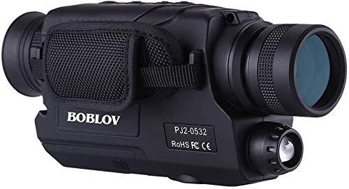 BOBLOV 5x32mm デジタルナイトビジョン 赤外線 暗視スコープ 5倍 単眼 暗視鏡 昼夜兼用 写真/動画撮影 16GBカード同梱 夜間監視 生態観察 狩り 防犯