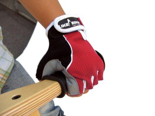 LIKEaBIKE Kinder-Fahrrad-Laufrad-Handschuhe rot Gr. S = für Kinder von 3 - 5 Jahren