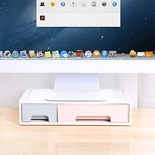 Monitor Stand met Laden Computer Monitor Lifter Verhogen Toetsenbord Bureau Plank Bureau Monitor Stand Desktop Storage Box Plastic-B E