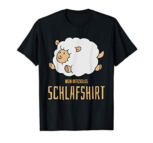 offizielles Schlafen Nachthemd Pyjama Comic Schaf T-Shirt