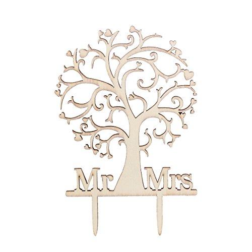 ULTNICE Holz Torten Topper Mr Mrs Kuchen Topper für Hochzeit Verlobung