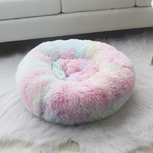 BAJIE Dog round bed,Soft Modern Ultra Soft Warm Pet Bed Puppy Dog Mat Sleeping Cushion Suits For Small Medium pet Padded Bed Bolster Bed (Color : M, Size : 70CM)