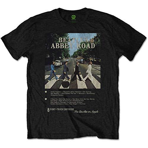 Unknown The Beatles Abbey Road 8 Track - Camiseta para Hombre, Talla XXL, Color Negro