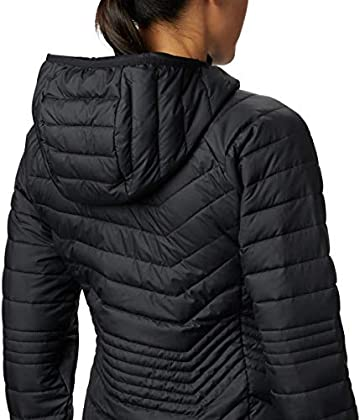 Columbia Powder Lite Jacket Chaqueta Larga, Mujer, Negro (Black), M