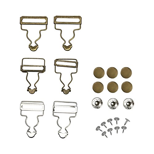 Overalls Buttoned Hooking Metal Buckles Gourd Buckles Suspenders Jeans Sub for DIY Art Sewing Clothing Craft