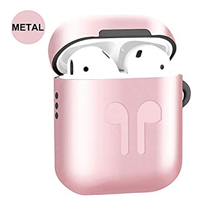 Metal Airpods Case Full Protective Skin Cover Compatible with Apple Airpods 1&2 Wireless Charging Case Accessories Kits from winberry