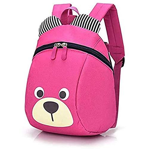Yiyu Kleinkind-Rucksack, Anti Verlorene Tasche Niedliche Bär-Tier-Kind-Rucksack Cartoon Harness Rucksack Leine Sicherheit Anti-Verloren Rucksack Für Baby Jungen Mädchen x (Color : Pink)