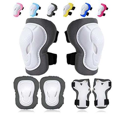 knee pads for kids,Knee Pads Elbow Pads Wrist Guards Protective Gear Set for Skateboarding Inline Rollerblading Roller Skating Cycling Bike BMX Bicycle Scooter Snowboarding 3 in 1