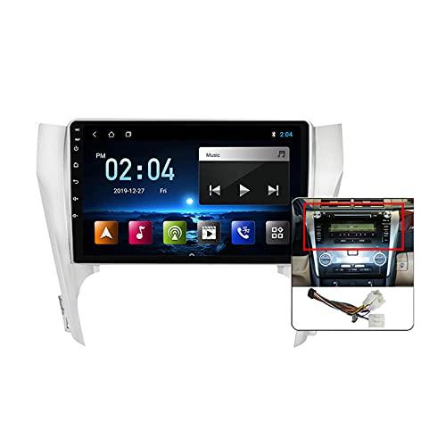 Android 10 MP5 Player GPS Navegación para Toyota Camry 7 XV 50 55 2014-2017, Soporte WiFi 5G DSP/FM RDS Radio de Coche Estéreo/Hands-Free Calls/Control del Volante/Carplay Android Auto,Plug a,M100