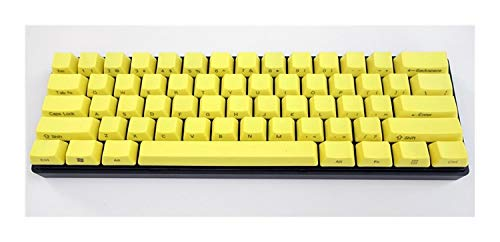 IPad 8th Generation Keyboard Yellow Thick PBT Keycaps ANSI Layout Side Print For MX Switch Mechanical Keyboard f keyboard keys (Color : 61 key)