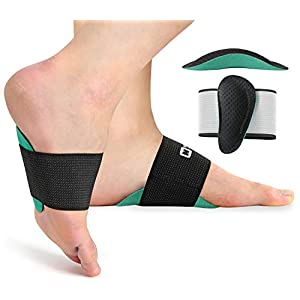 Arch Support Brace for Men & Women Elastic Copper Bandage Foot Care Brace for Pain Relief of Plantar Fasciitis, Heel Spurs, Flat Feet
