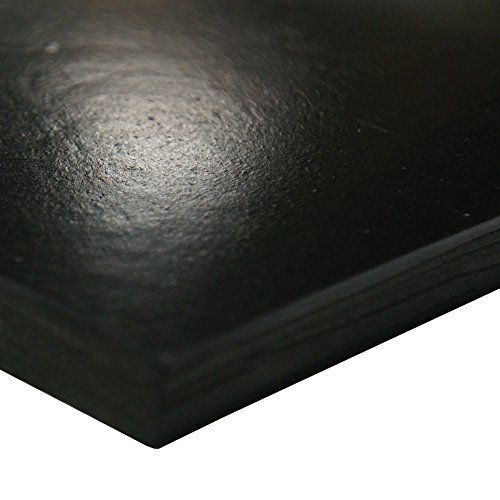 Neoprene Sheet, 60A Durometer, Smooth Finish, No Backing, Black, 0.032' Thickness, 24' Width, 36' Length