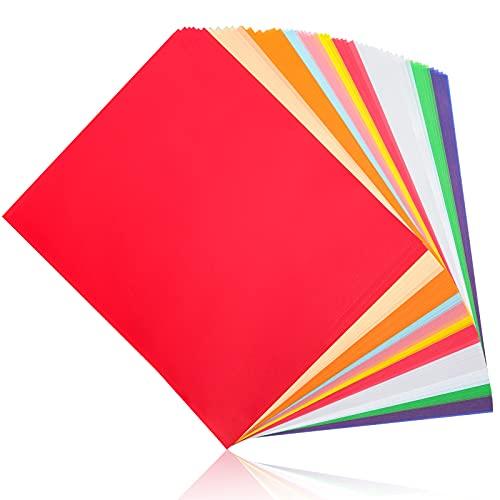 VGOODALL 60 fogli di carta trasparente colorata, 10 colori, formato A4, carta pergamena bianca semitrasparente per fai da te, scrapbooking, biglietti, decorazioni per schizzi