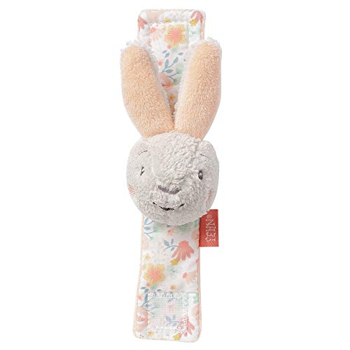 FEHN 062472 - Pulsera sonajero con diseño de conejo y cabeza de animales para agarrar, sonajeros, agitación y sonidos para bebés y niños pequeños a partir de 0 meses