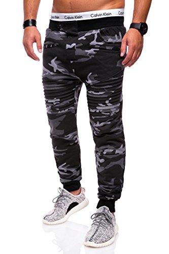 MT Styles Trainingshose Biker Jogginghose M-2070 [Schwarz Camouflage, S]