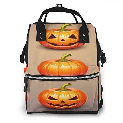 Mochila de momia KQJH, juego de calabazas para Halloween, mochila para pañales, bolsas impermeables para pañales de viaje, organizador de mochila multifunción con bolsillos con aislamiento para bebés