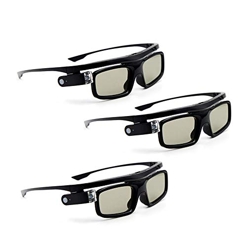 Docooler 3D-Brille 3 Stücke GL1800 Projektor 3D Active Shutterbrille Shutter Wiederaufladbare DLP-Link für alle 3D-DLP-Projektoren Optama Acer BenQ ViewSonic Sharp Dell